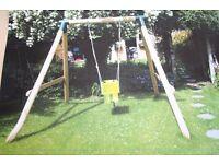 Baby Wooden Garden Swing Set- Baby Swing