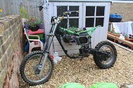 Kawasaki KX80 Frame, Wheels & Parts