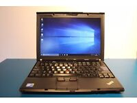 Lenovo x201 Thinkpad laptop. i5 CPU, 128GB SSD, 8GB RAM. With docking station and spare battery