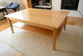 IKEA Coffee Table, Beech Solid/Veneer