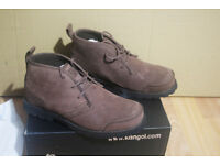 KANGOL Riverdale Boots or Shoes - MENs UK size 7 (euro 41)- Brown - LIKE NEW conditions