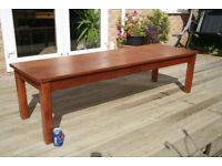 Large Mid Century Oak Laboritary Table, Coffee Table