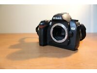 Nikon D70 digital slr camera with lens and accessories