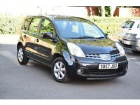 2007 NISSAN NOTE ACENTA 1.4 PETROL*3 MONTHS FREE WARRANTY*BREAKDOWN COVER*BLUETOOTH*2 KEYS*