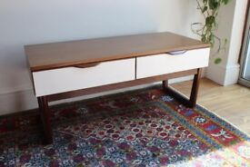 Mid Century Retro Danish style Low Sideboard TV Cabinet Chest with 2 Drawers