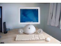 "Apple imac G4 1GHz 15"" OS X 10.4.11 vintage retro mac desktop computer"