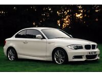 2012 BMW 118d M Sport Coupe in white, low mileage (45k)