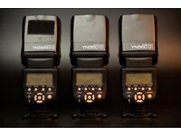 3 Flashes with wireless trigger 2 x Yongnuo 560 iii / 1 x Yongnuo 565 EX iii / Yongnuo YN560 TX