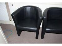 Black Sofa and Armchair