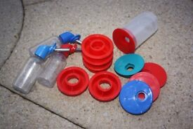 Rotastak Water Bottles and Holders for Hamsters Mice Gerbils (like new condition)