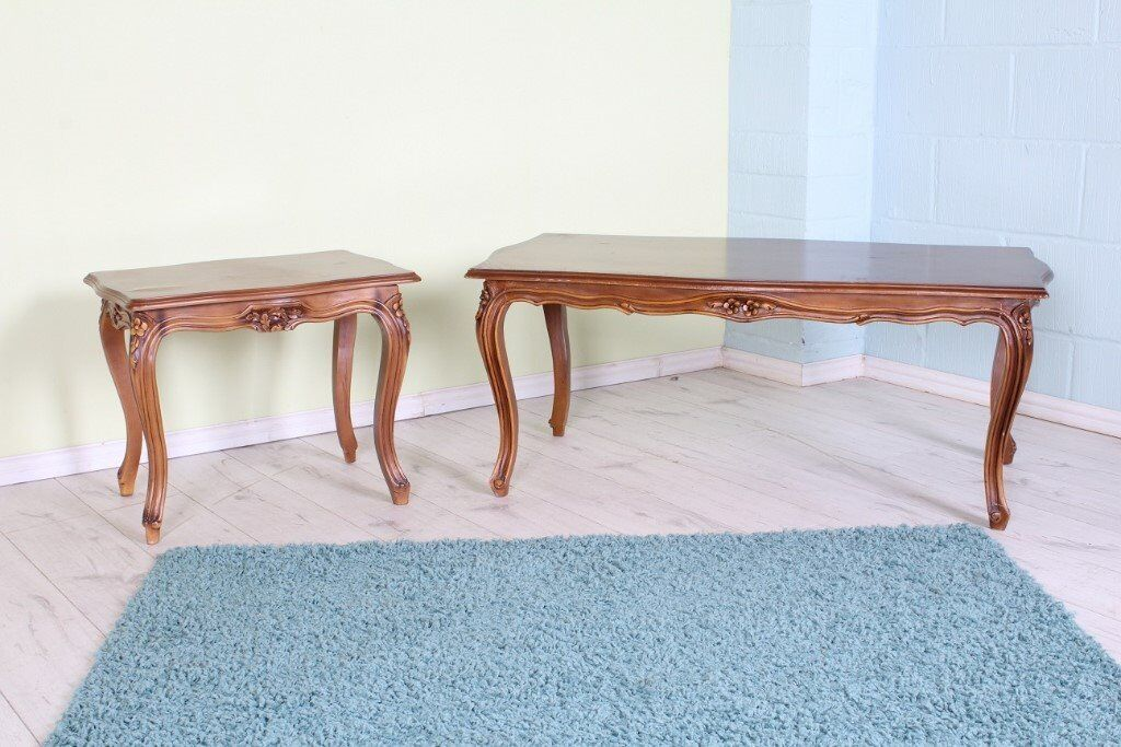 DELIVERY OPTIONS - 2 X MATCHING LOUIS STYLE COFFEE TABLES LOOK GREAT PAINTED