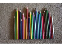 27 Assorted Colouring Pencils - 19 x WHSmith Pencils and 8 General Unbranded - WILL POST FOR +£2.00