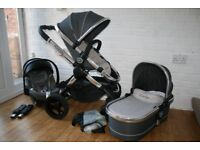 Candy Peach 3 Truffle grey pram pushchair with car seat 3 in 1 travel system CAN POST