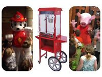 Children's party, mascot, candy floss machine, popcorn machine, sweet cart, bouncy castle,paw patrol