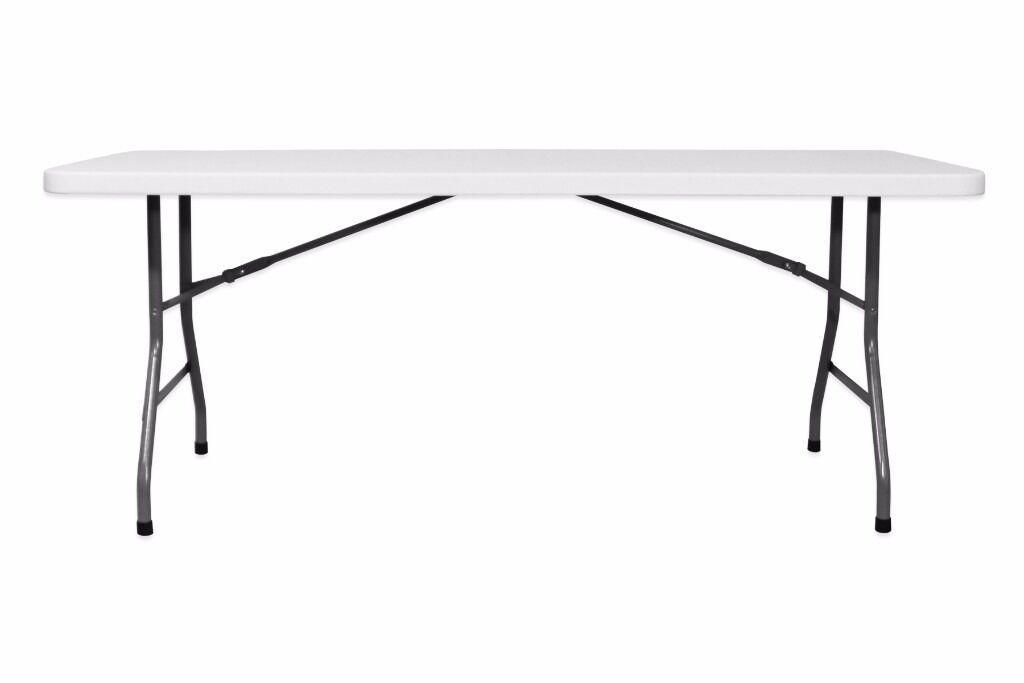 5000 6ft Plastic Trestle Tables Uk Delivery Folding Metal Legs Moulded 183cm One Piece Top