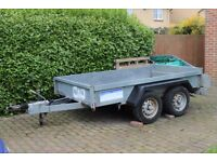 Indespension 8 x 5 Trailer, twin axel, drop down rear, used for multiple of uses