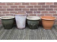 12 Flower Pots - Various Sizes