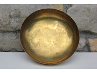 Vintage Old Brass Bowl Oriental Chinese Design. Made by Derverlea Collectible Sweet Dish Japanese