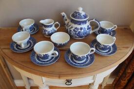 Churchill Blue Willow Pattern Tea Set- 15 piece £35