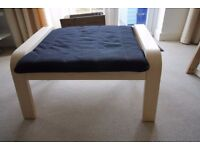 IKEA Poang Footstools, black and beech