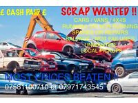 Scrap cars unwanted mot failures non runners wanted best prices paid