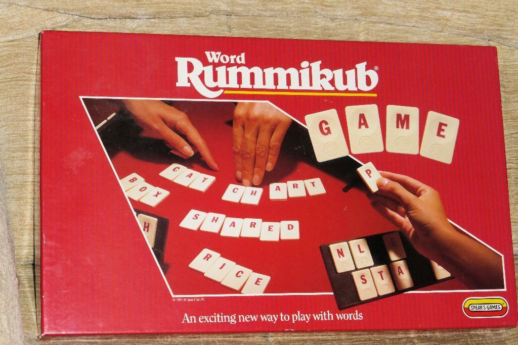 Rummikub Word Game For 2 4 Players 1990 Complete And Good