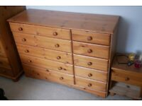 Chest of Drawers - Large, 5+5 drawer, Beautiful Pine Wood, great quality