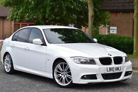 2010 BMW 3 SERIES 2.0 320d M Sport Business Edition Sat Nav Full Leather White FSH VOSAVERIFIED