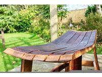 Oak Wine Stave Bench