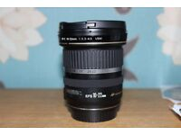 Canon EF-S 10-22 mm wide angle lens
