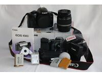 Canon 450D DSLR camera with extras