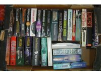 Books - Fiction - ( Thrillers, murder mysteries, horror etc - approx 58 books)
