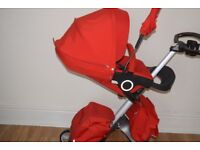 Stokke xplory full package Red pushchair pram in good condition