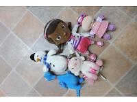 Doc mcstuffin soft toy set