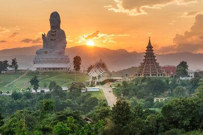 Wat Huai Pla Kung Temple Chiang Rai Thailand Photo Art Print Poster 18x12