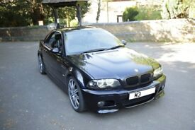 BMW M3 Convertible Carbon Black Manual TV Sat Nav Hardtop Full Service History AC Schnitzer
