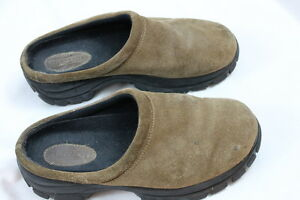 mens lands end suede like all weather slip on moc mule