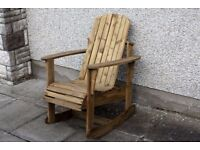 Adirondack garden chair Garden rocking chairs seat furniture set bench Summer Loughview JoineryLTD