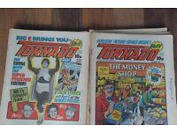 "UK COMICS ""TORNADO"" BRITISH COMICS INLCUDING BEANO DANDY WARLORD JACPOT NUTTY ETC"