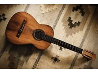 "VICENTE SANCHIS SPANISH GUITAR - vintage handmade ""Willy Nelson"" style, masses of mojo."