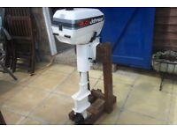 JOHNSON 4 HP twin cylinder two stroke outboard.