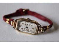 BEAUTIFUL 1930S LADIES ROLLED GOLD 15 JEWEL SWISS MECHANICAL WATCH