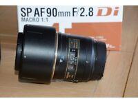 Tamron SP AF 90mm F/2.8 Di Macro lens