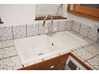 Ceramic Kitchen Sink with tap included