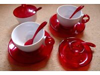 Guzzini - Cruet Set - Tea Cups - Sugar Bowl - Egg Cup- House Clearance - Carboot - Joblot
