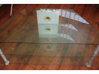 Glass TV Monitor Stand 3 Tier