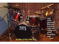 full drum kit in decent condition