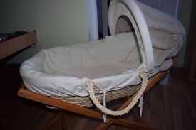 moses basket and stand - mamas and papas