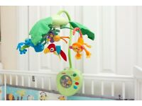 Fisher-Price Rainforest Peek-a-Boo Leaves Musical Cot Mobile Forest Animals Can Post