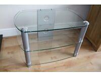 TV Stand - Glass/chrome